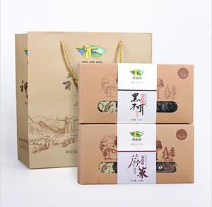 神农架山珍 伴手礼(野生黑木耳+野生蕨菜)